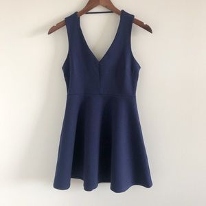 BCBGeneration Navy Blue Stretch Skater Dress 2